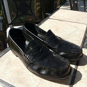 Men's Black Slip on Loafers Size 13